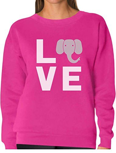f887d39ac TeeStars - Love Elephants Be Kind to Elephants Animal Lover Women Sweatshirt  XX-Large Pink