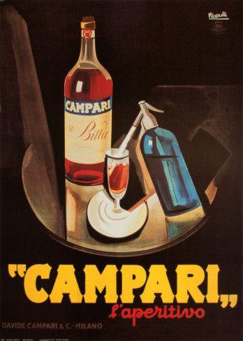 Campari and sodaVintage Posters, Italian, Campari L Aperitivos, Picture-Black Posters, Marcello Nizzoli, Campari Laperitivo, Prints, Drinks, Art Deco