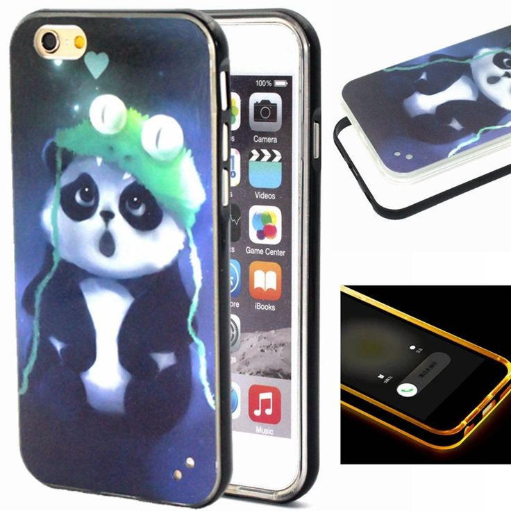Daminfe iPhone 6S Plus/iPhone 6 Plus 5.5 Glitter Case, Shiny Bling design cute panda Heavy Duty Soft Silicone Hard Plastic Bumper Case Cover For iPhone 6S Plus/iPhone 6 Plus 5.5 inch. For:iPhone 6S Plus(2015)/6 Plus 5.5(2014). Made of back Slim Thin Soft