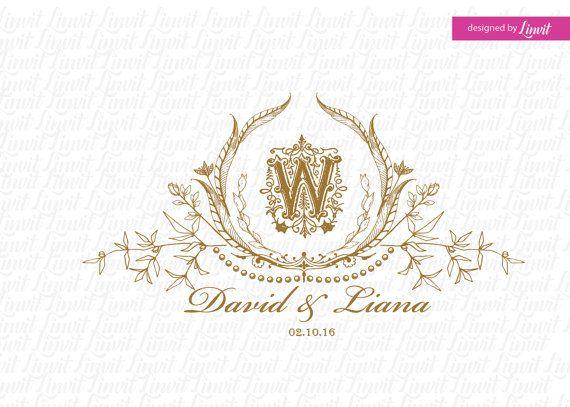 vintage wedding monogram-wedding logo-wedding by Linvit on Etsy