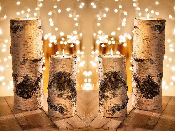 Une simple bûche de bouleau accueille une bougie. En 25 ou 40 cm. A partir de 16,95 €. Eclat de bouleau. Nature & Découvertes. www.natureetdecouvertes.com