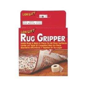 Optimum Technologies Lok Lift Rug Gripper Slip-Resistant Rug Tape for Rugs and Mats 2.5-Inches by 25-Feet