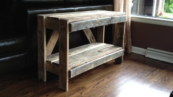 Diy pallet sofa table home pinterest pallet sofa for Sofa table made from pallets