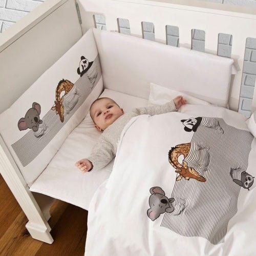 Dekbedset Slapende Dieren  #babykamer #dekbed
