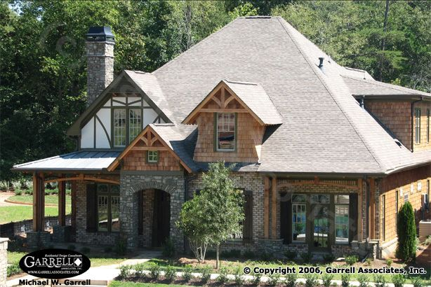 Villyard cottage house plan 06224 front elevation for Mountain craftsman house