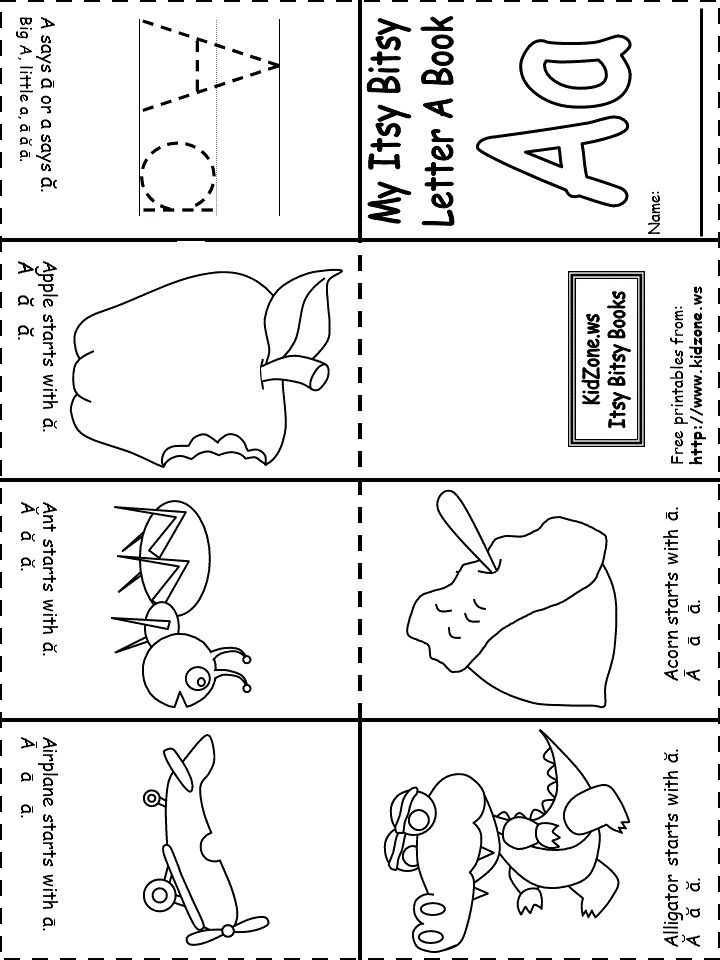 Priceless image pertaining to printable letter books for kindergarten