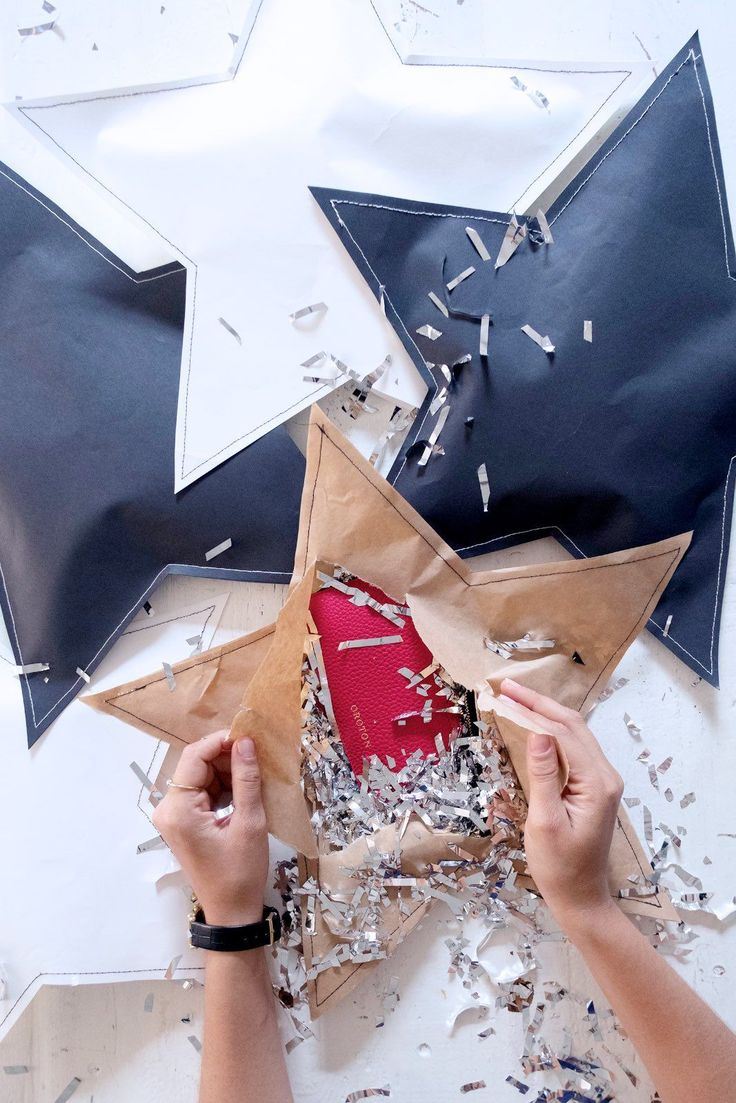 DIY Stitched Up Gift Parcel Wrap