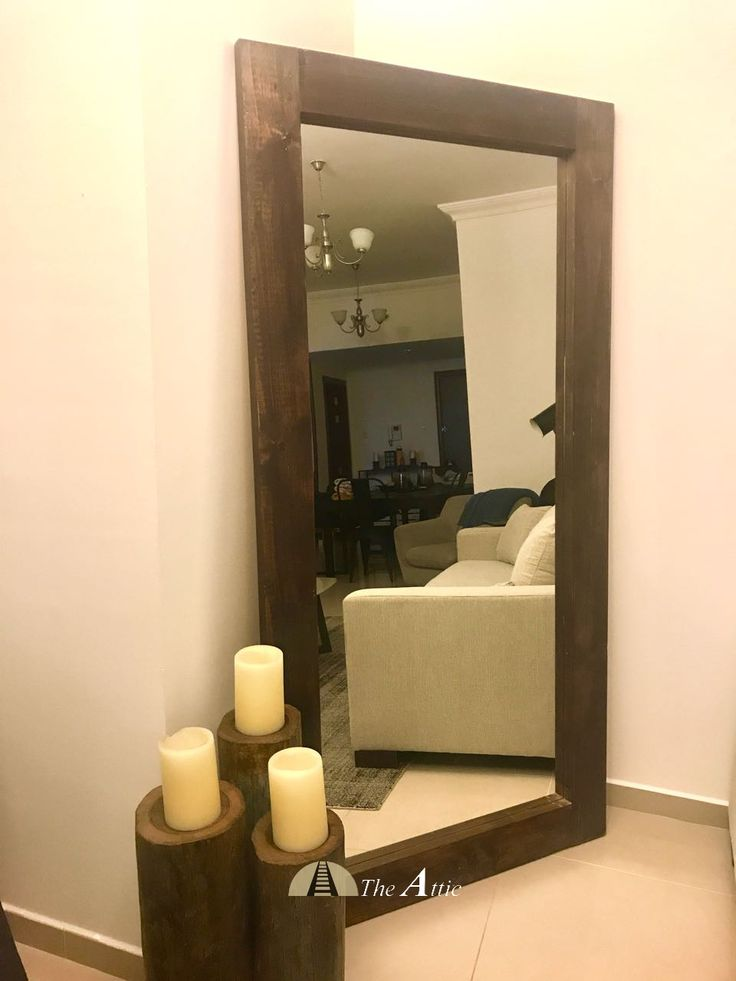 Large wooden wall mirrors