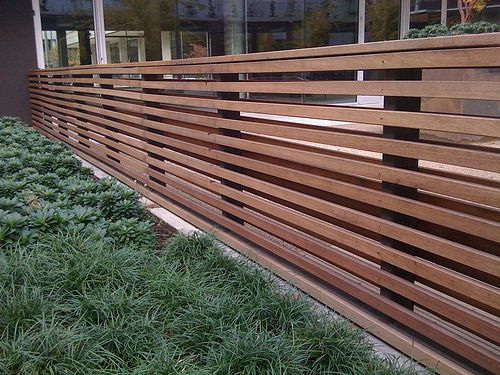 Simple and modern fence