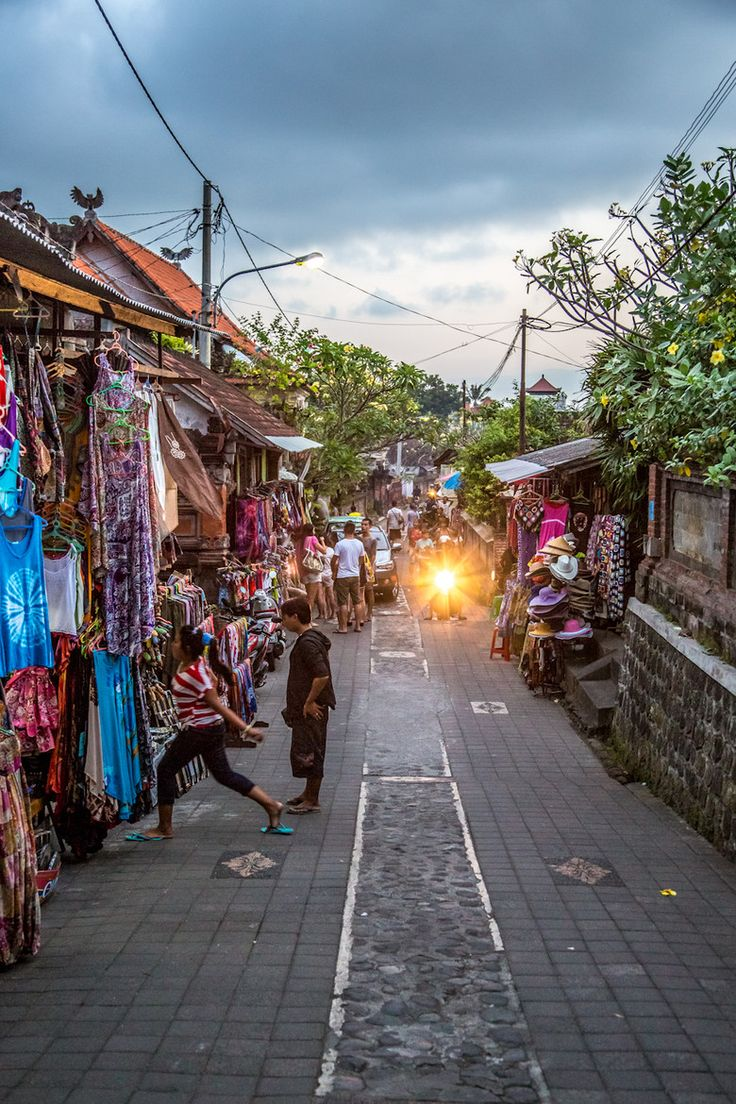 Lokale markt in Ubud, Indonesie