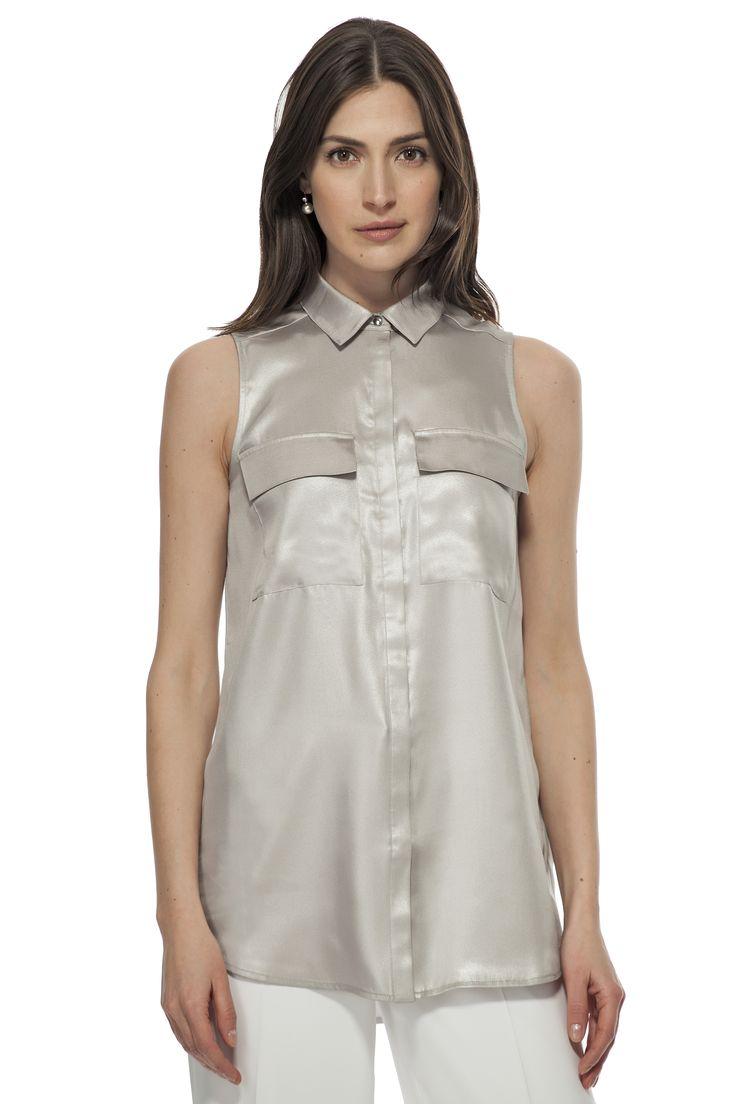 Chemisier métallique / Metallic shirt  https://www.tristanstyle.com/en/femmes/chemisiers/chemisier-metallique/10/fv010c1095z/