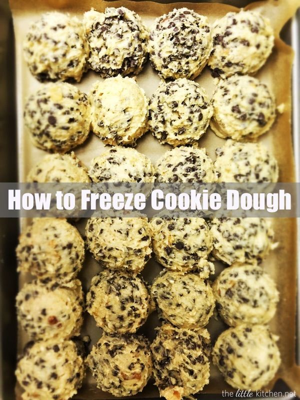 How to Freeze Cookie Dough from thelittlekitchen.net -- I never regret making a double batch of cookies and freezing half!