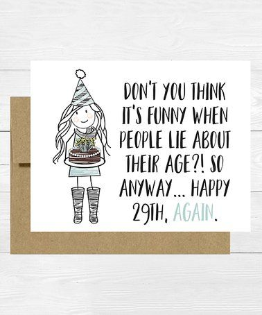 Happy 29th Birthday Greeting Card Set Zulilyfinds
