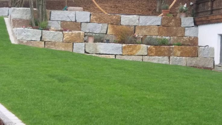 Firma B&M GRANITY - Winter - Rabatt / Winterpreise- GRAU-GELBE Granit-Mauersteine / Quader aus Polen