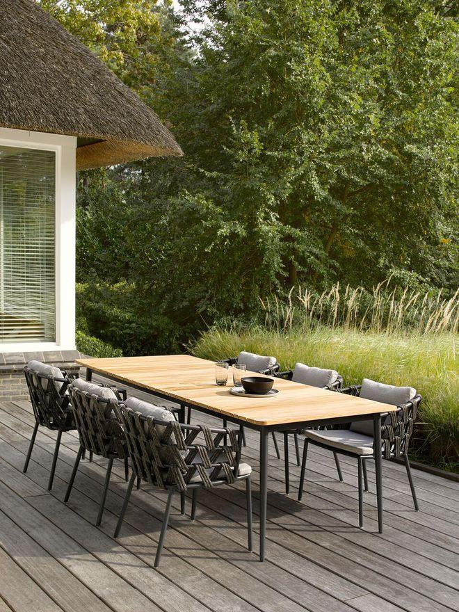 Une table de jardin qui allie teck et aluminium | patio | Patio ...