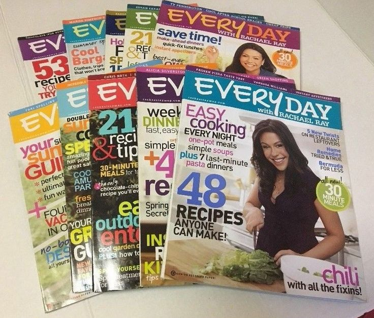 Everyday With Rachel Ray Magazine 10 Back Issues September 2007 to August 2008 #RachelRay