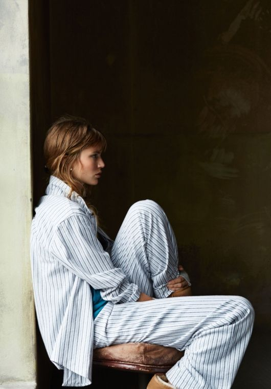 Stripe Pyjamas from hush Pinned by TheChanelista on Snapchat and Pinterest