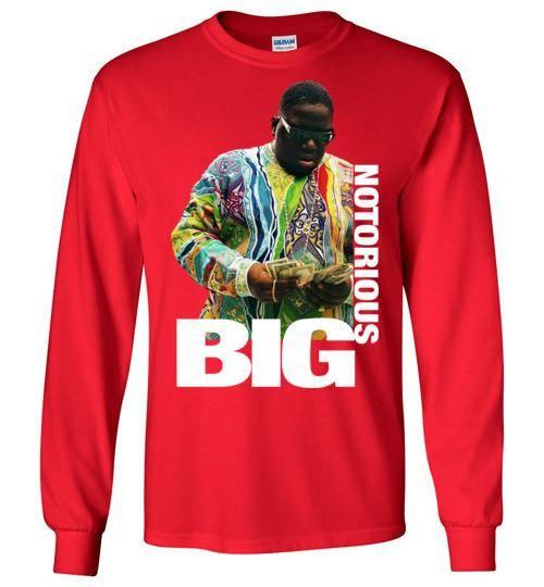 Notorious BIG Biggie Smalls Big Poppa Frank White Christopher Wallace,Bad Boy Records, Hip Hop New York Brooklyn,v8b, Gildan Long Sleeve T-Shirt