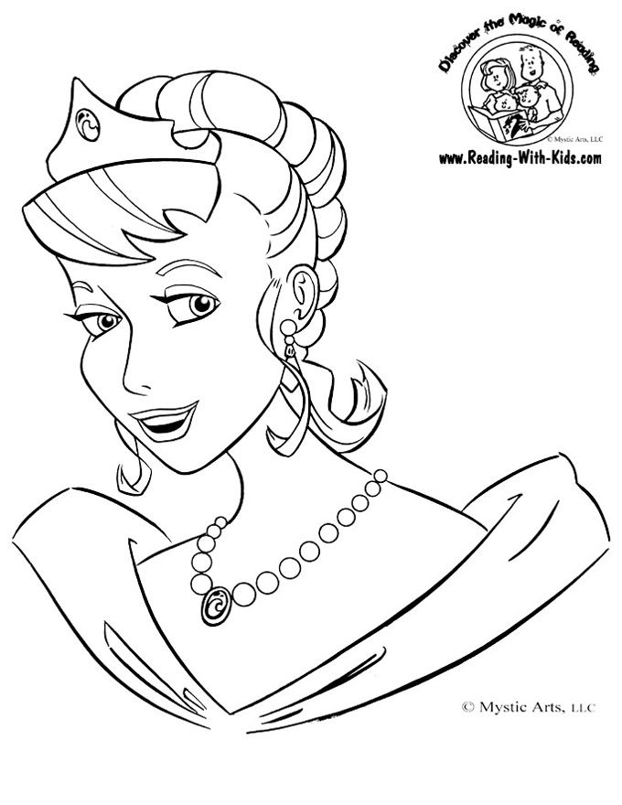 princess coloring page - Colouring Pages Cartoon Characters