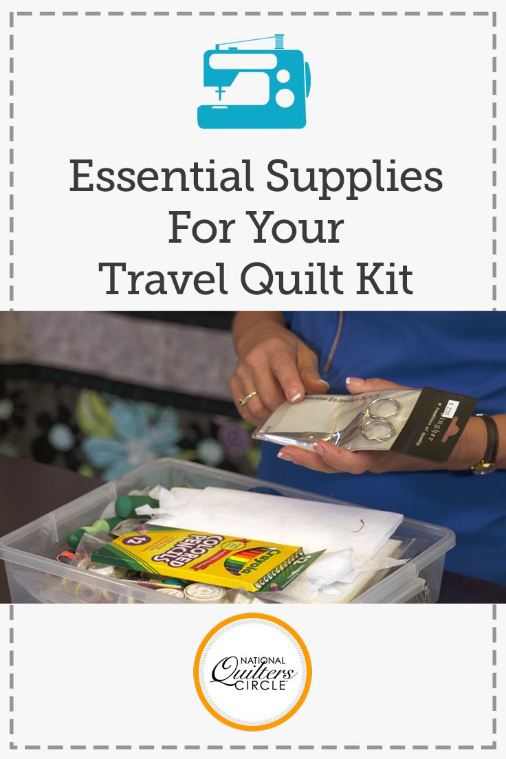 Whether you go to quilt camps or retreats every weekend or you are packing for your first, having a travel quilt kit ready to go can make preparations much easier. Kelly Hanson shows you what kinds of tools and notions she has in her quilt kit in this fun quilting video.
