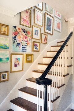 Picture Frames For Wall Staircase Design Ideas, Pictures, Remodel and Decor
