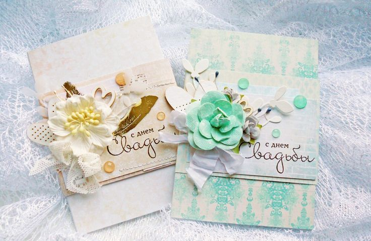 Wedding cards-envelopes with #scrapbox chipboard, #prima flowers and overlay with stamps from #lesiazgharda, #scrapberrys crystals