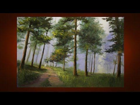 Пейзаж маслом. Как рисовать лес мк александр южаков новое - YouTube