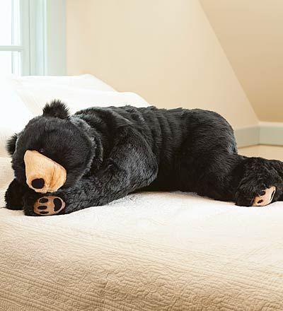 "Black Bear ""Bear Hug"" Body Pillow // #SicEm"