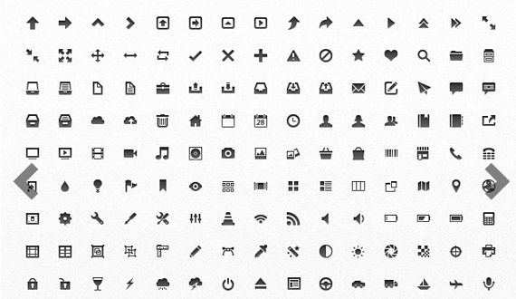 A collection of 150 pixel-perfect, mini vector icons. Each one has been optimized for display at sizes as small as 16 x 16 pixels, and they are all infinitely scalable for larger sizes. Multiple formats are included for easy customization, including PSD, EPS, AI, and the original Fireworks source file.