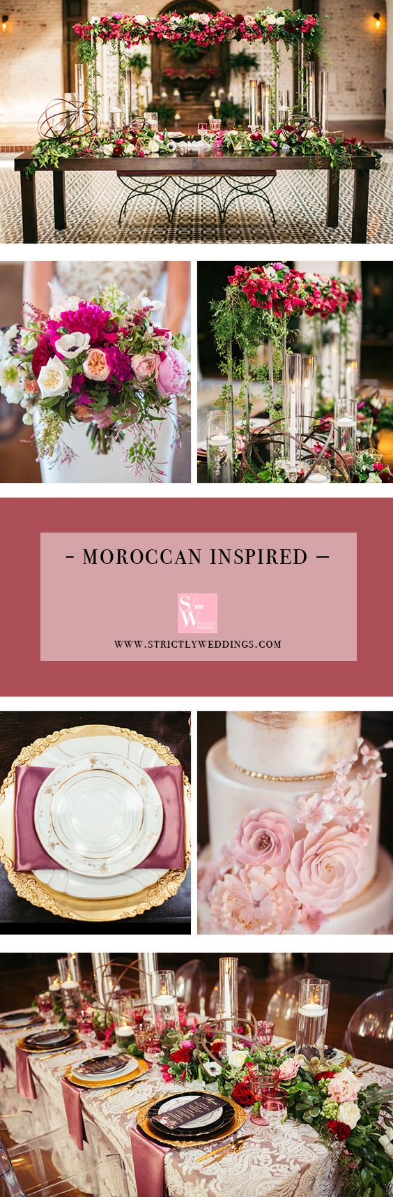 Dripping with gorgeous details and overflowing with stunning color, this Moroccan wedding inspiration was visualized by Events by Cassie and captured by Three16Photography – personally it's the best way to close out a week!