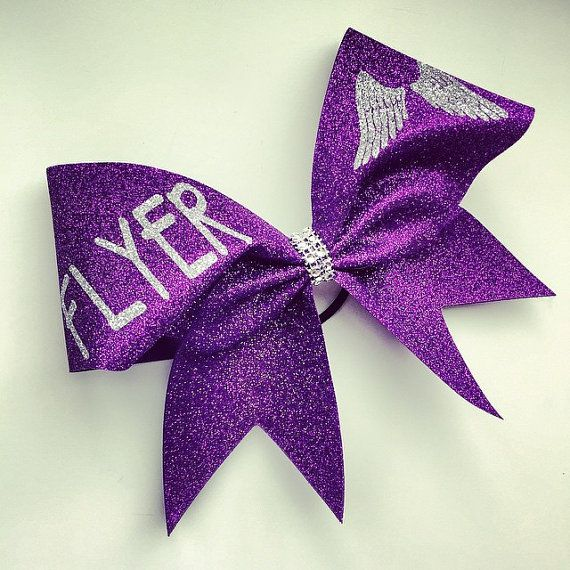 Glitter Flyer cheer bow. by bragabitbows. Explore more products on http://bragabitbows.etsy.com