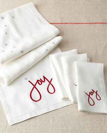 garnet hill-diy paint joy and start on white table runner