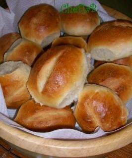 Brotchen -Traditional  German Bread Rolls - crusty on the outside and chewy on the inside - made with egg whites (JS)