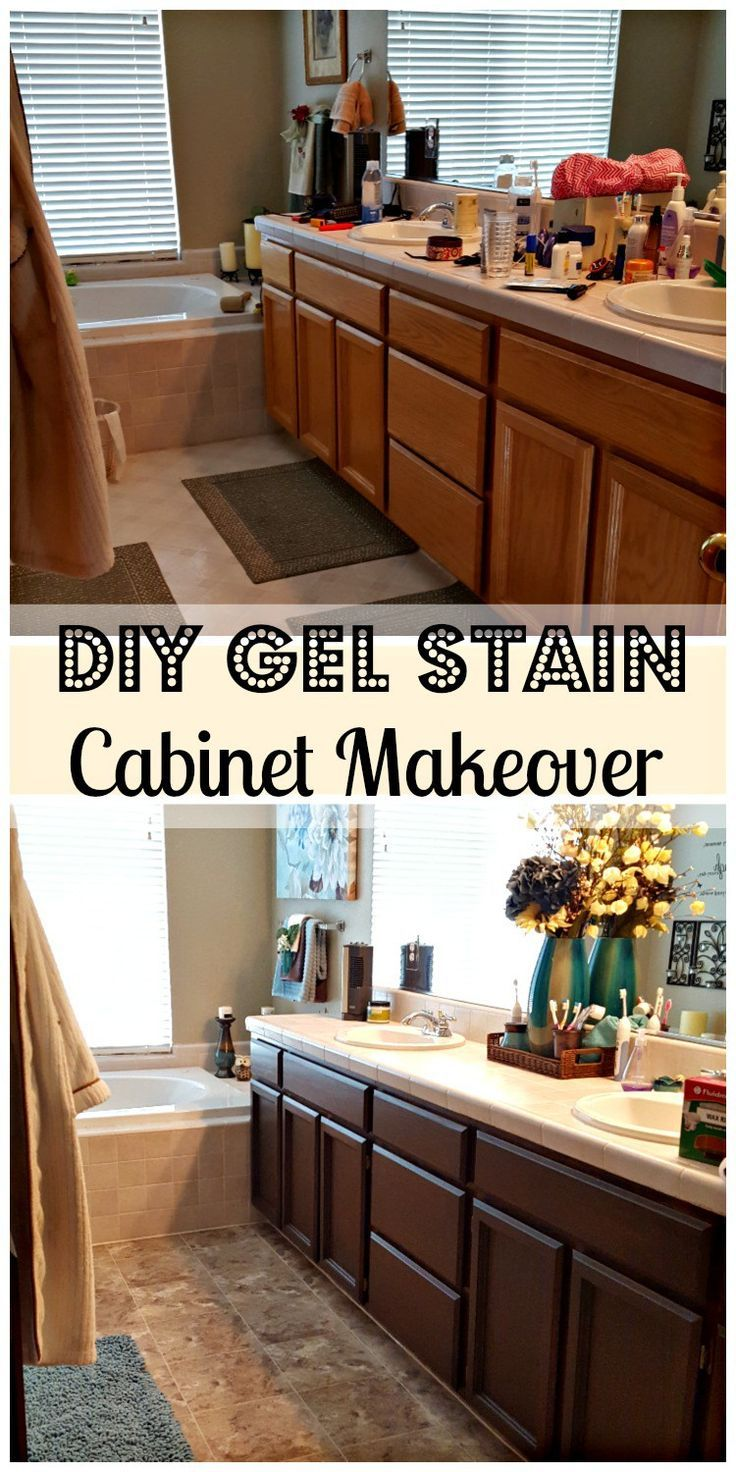 Bathroom Remodel Diy With General Finishes Gel Stain Diy