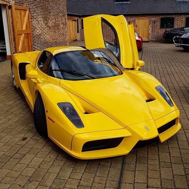 Yellow Ferrari Enzo The First Enzo I Have Seen In Yellow Yellow Ferrari Cars