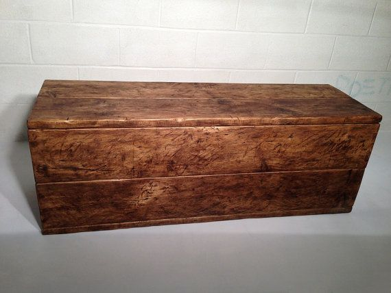 Rustic Wooden Chest Toy Trunk Made to Measure with by LOVEWOODWORK, £265.00