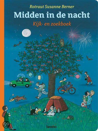 'Midden in de nacht', Kijk- en zoekboek van Rotraut Susanne Berger (7,99 euro bij bol.com)