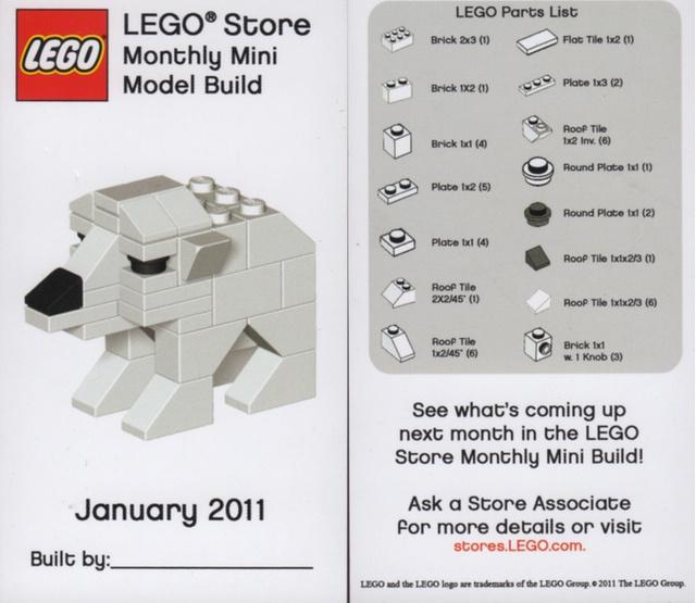Weeks 7-8: Lego Polar Bear. Get instructions here: https://s3.amazonaws.com/ccbchurch/30724/storage/89/polar_bear.pdf?AWSAccessKeyId=0BDSSVFT2HK96VQETMR2=1366380545=PFKFi1qNuLSqLTffrmrkQJHBMx8%3D