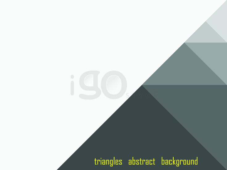 Triangles abstract background gray