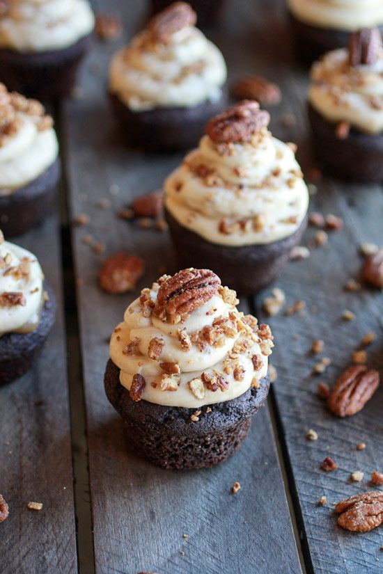 Chocolate Bourbon Pecan Pie Cupcakes - Cupcake Daily Blog - Best Cupcake Recipes .. one happy bite at a time!