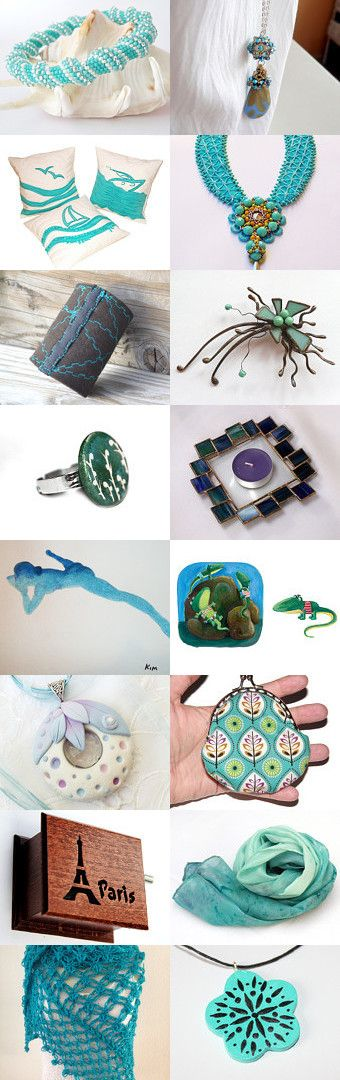 Turquoise in Paris by Bibe Jewelry on Etsy--Pinned with TreasuryPin.com