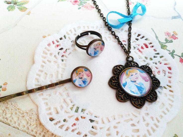 Hamupipőke ékszerek kislány ékszer, mesés nyaklánc kis hercegnők örömére (vintage, jewerly, necklase, Disney Princess, Minnie, Frozen)