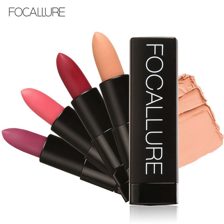 FOCALLURE Brand Waterproof Matte Lipstick Ruby Woo Russia Red Candy Cosmetic Lip Care Lips Matte Lip Gloss