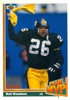Rod Woodson Football Card (Pittsburgh Steelers) 1991 Upper Deck #473 by Hall of Fame Memorabilia. $30.95. Rod Woodson Football Card (Pittsburgh Steelers) 1991 Upper Deck #473. Signed items come fully certified with Certificate of Authenticity and tamper-evident hologram.