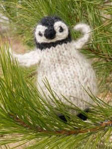 Free knitting pattern for Chilly Cheeks Penguin plush toy softie