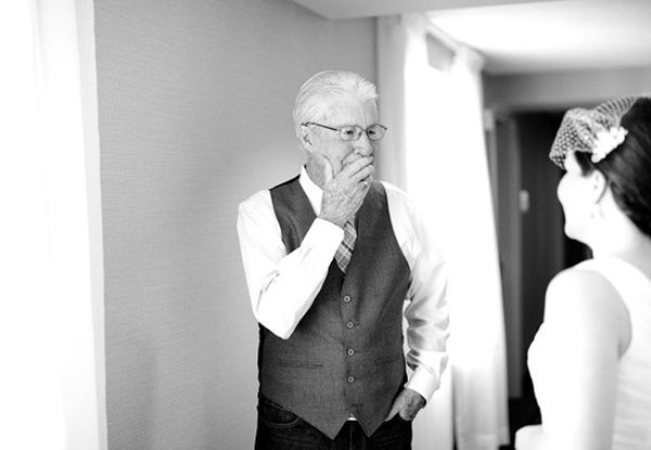 wedding, wedding photos, wedding photography, photography, wedding inspiration, bride, father of the bride, first look