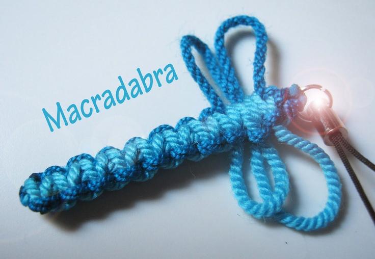 Macradabra: libelula azul #Macrame