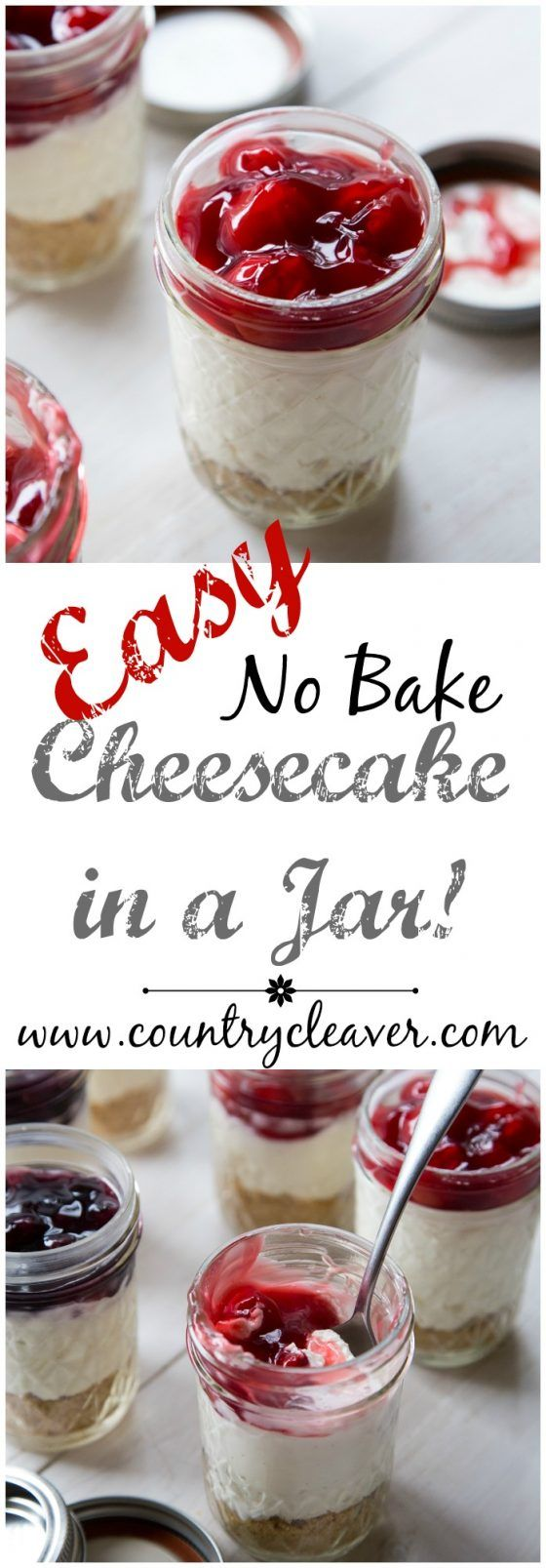Easy No Bake Cheesecake In a Jar