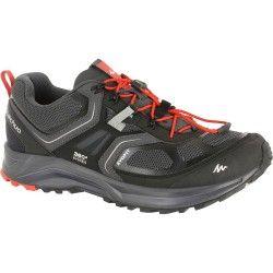 Zapatillas de montaña hombre Forclaz 500 Helium negro/rojo