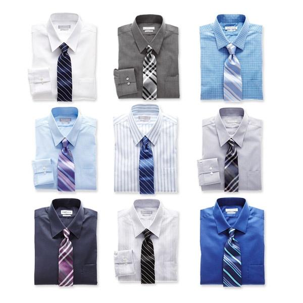 Mens Dress Shirt Tie Combo